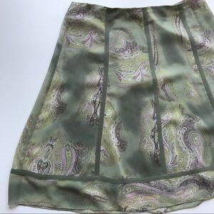 Vintage Express Silk Paisley Skirt